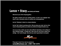 Lance + Stacy | Welcome