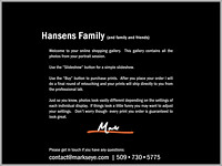 Hansens Family | Welcome