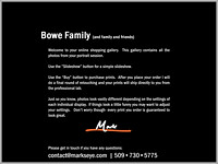 Bowe Family | Welcome